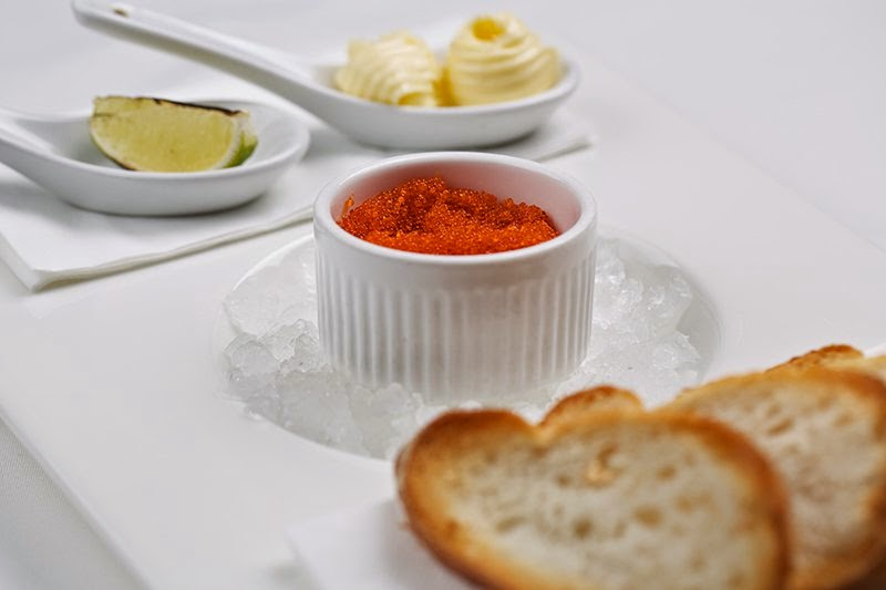 Travel Friendly. Russian souvenirs. Russian red caviar with bread and butter