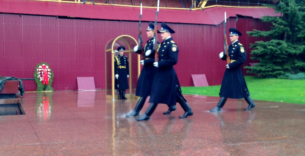 Presidential Guard of Russia at Kremlin wall