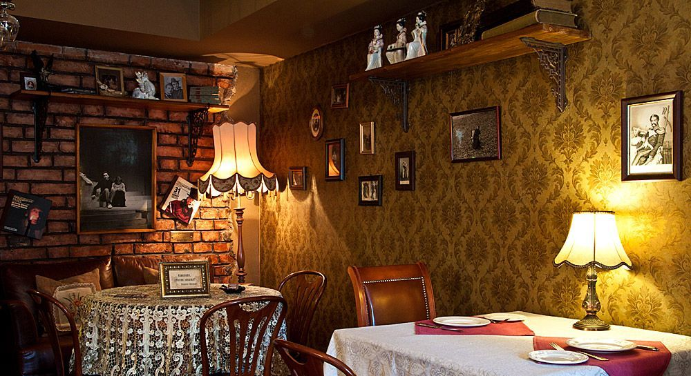 Russian authentic restaurant with Russian food