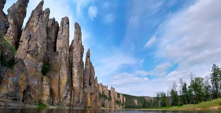 Russia. Lena Pillars. Photo: moya-planeta.ru