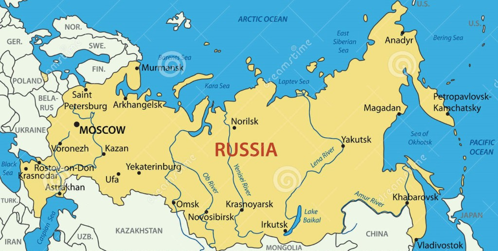 Russia. Map of Russia