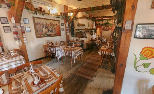 Russian restaurant with traditional local cuisine