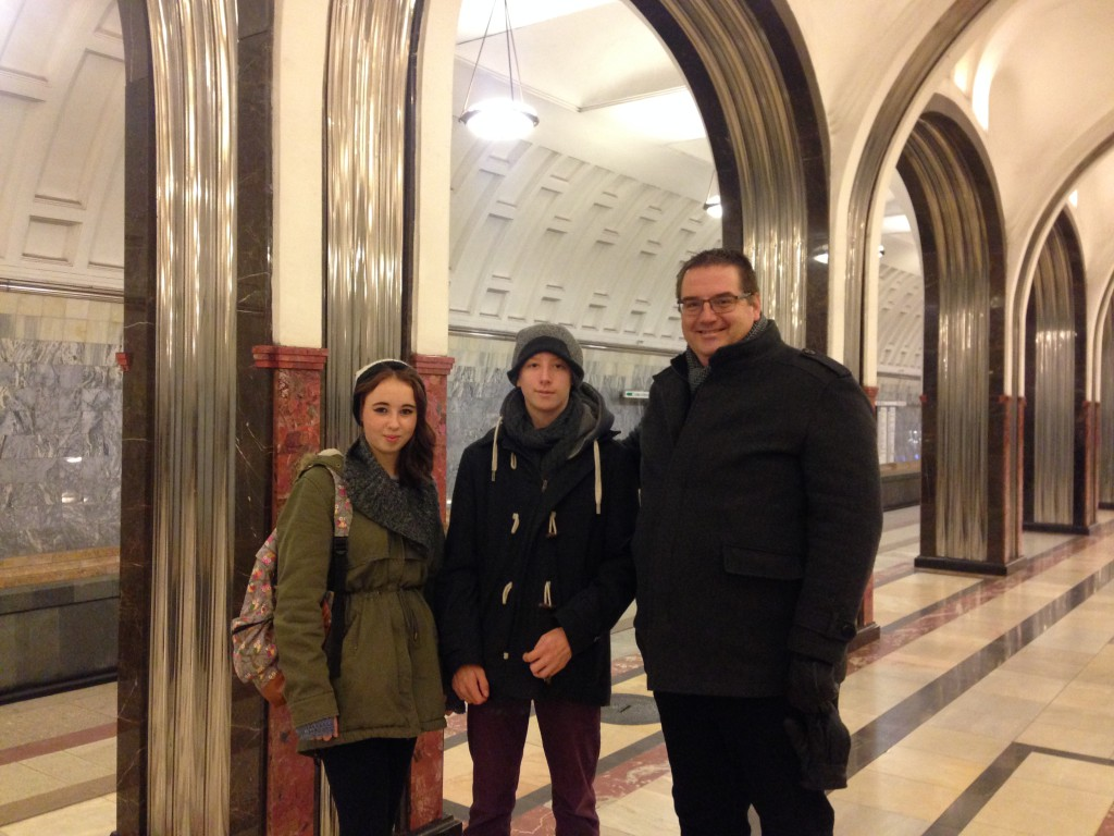 British tourists in Moscow