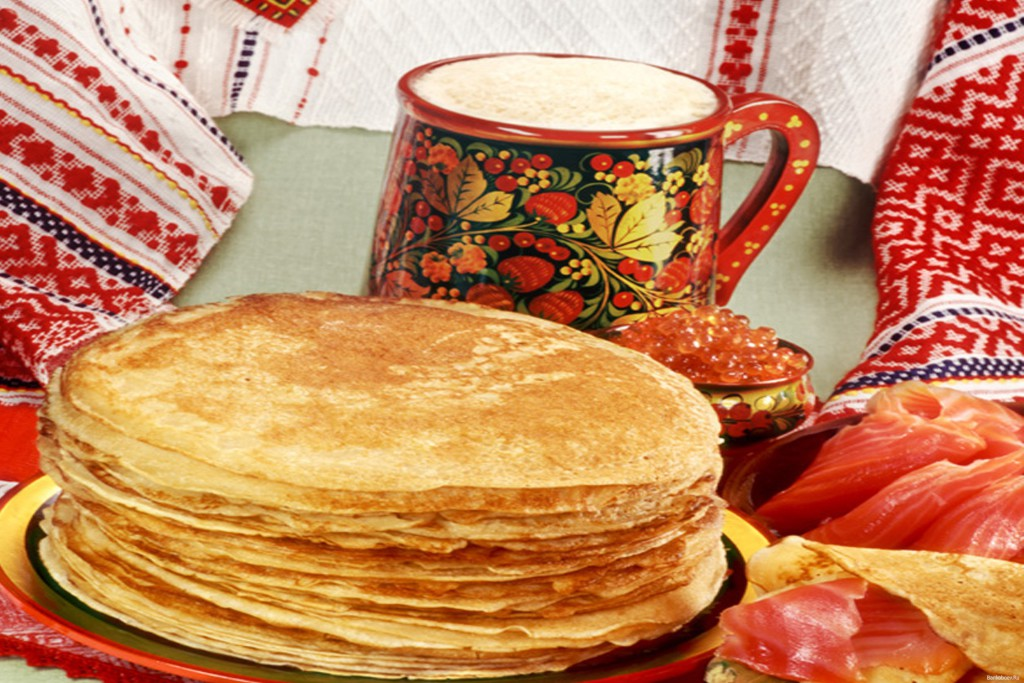 Russian traditional food, bliny
