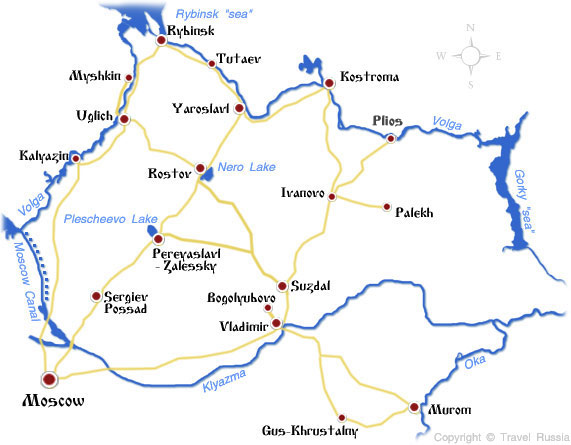 Map of Golden Ring cities