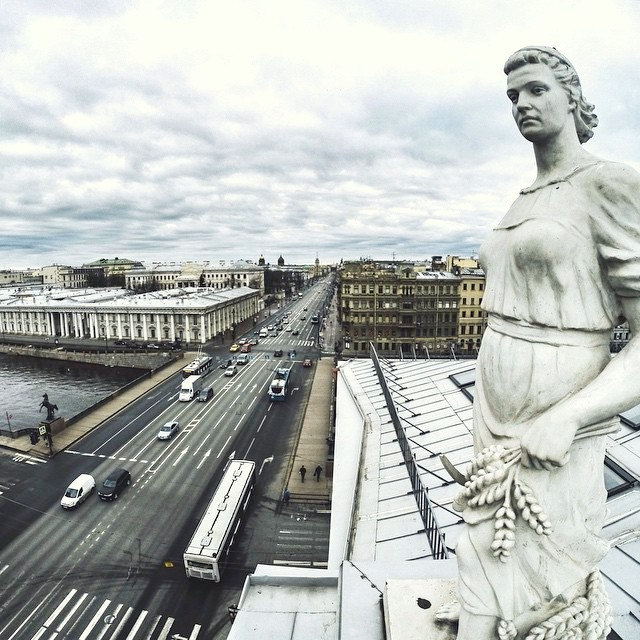 Rooftop tour of St Petersburg