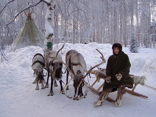 Siberian winter in Russia