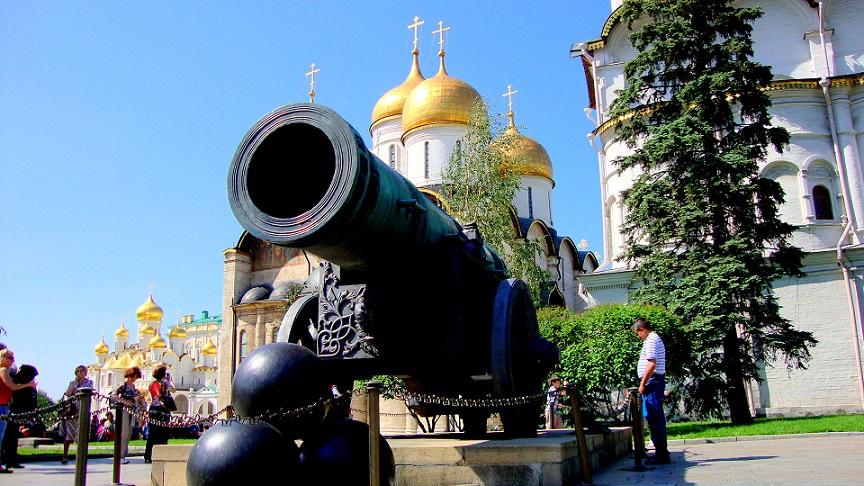 Tsar Cannon in Kremlin, Moscow
