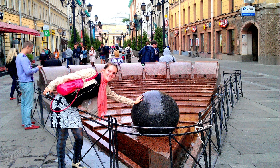 Rotating Ball Waterfall 0 fun things to do in St Petersburg
