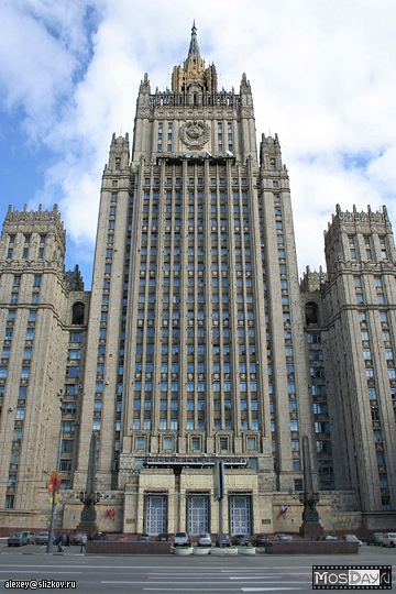 Ministry of Foreign Affairs, Stalin skyscraper in Moscow