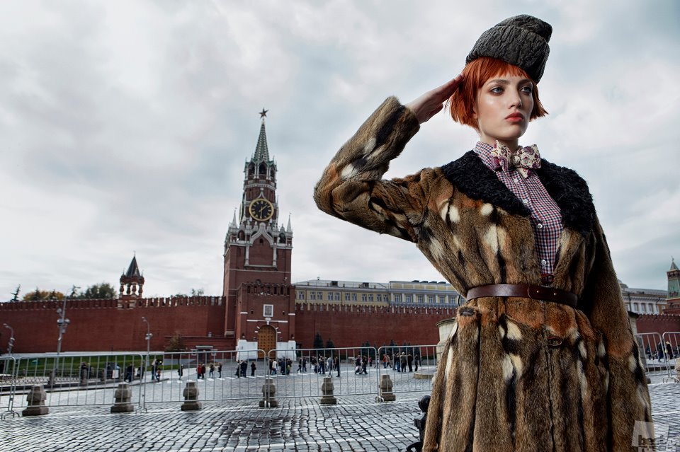 Russian girl on Red Square