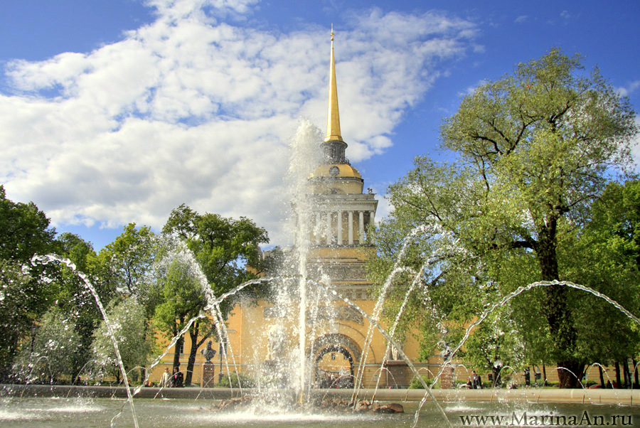 Fountains of St Petersburg, Admiralty building