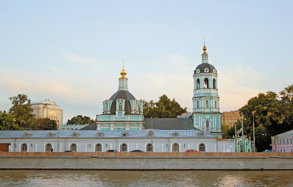 Downtown of Moscow and Moscow river