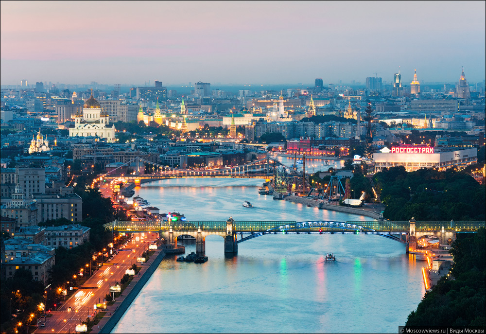 Best of Moscow - night views from the bridge