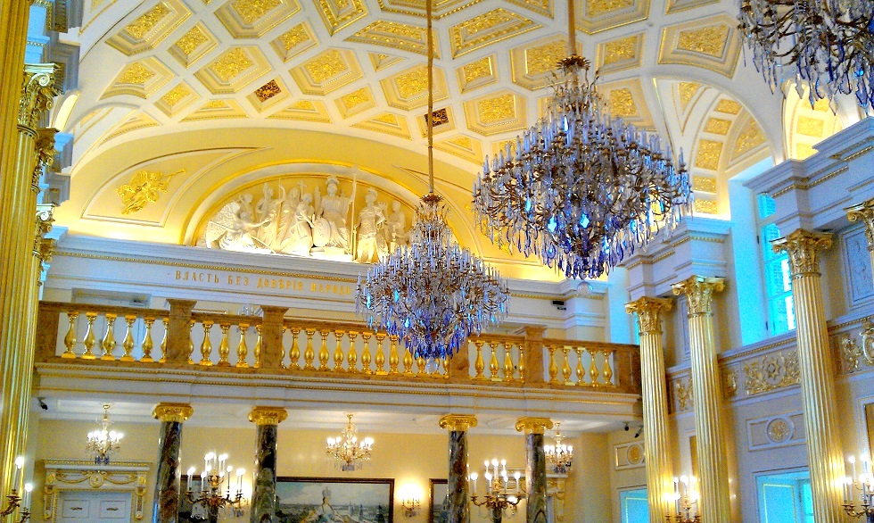 Posh interior of Grand Palace in Tsaritsyno