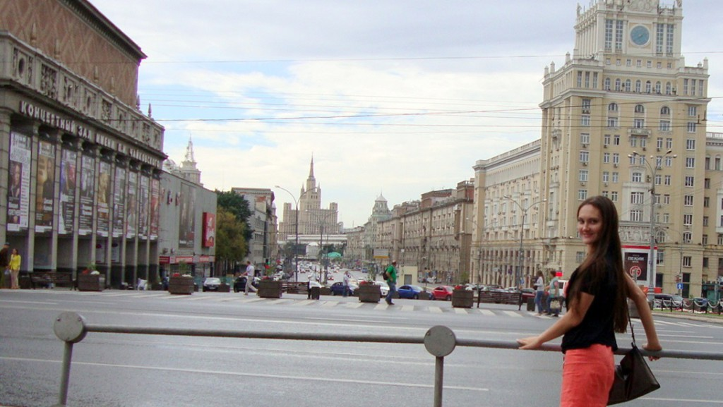 Stalin skyscraper, main street of Moscow, Pekin hotel in Moscow and private guide