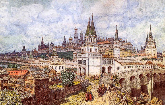 Old photo of Old Moscow
