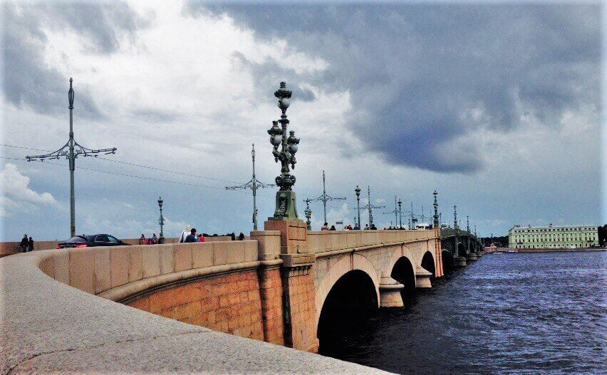 St PEtersburg Bridge and Neva River