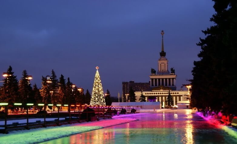 celebrating new year in Moscow