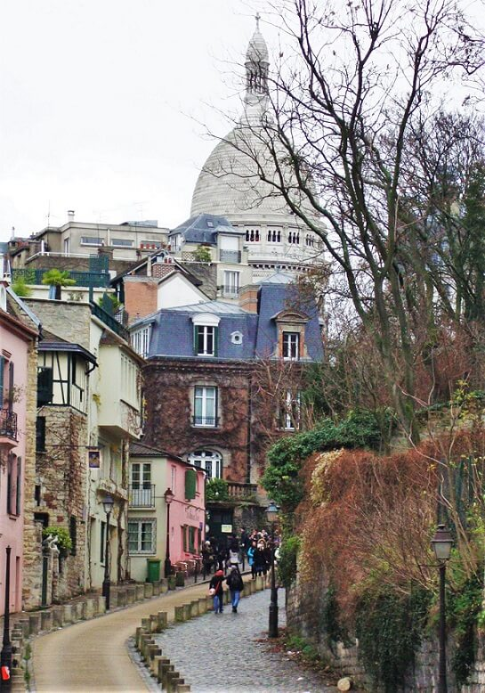 Amelia film location and Montmartre