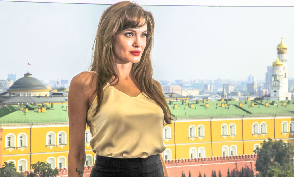 Celebrities visit Moscow. ANgelina Jolie traveling to Moscow