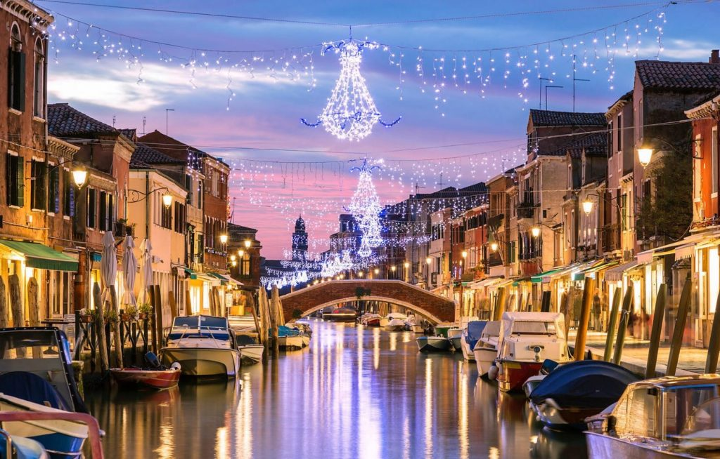 Venice is bright and beautiful during Christmas